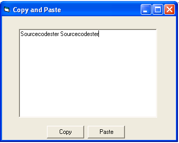 Copy and paste in vb6 free source code tutorials and for In this house copy and paste