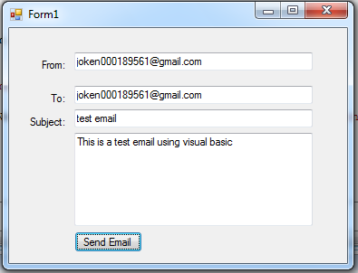 Send Email Using Visual Basic Net | Free Source Code & Tutorials