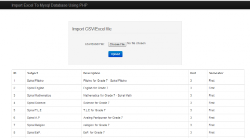 Write a csv file in php