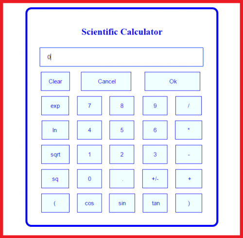 how to create simple scientific calculator