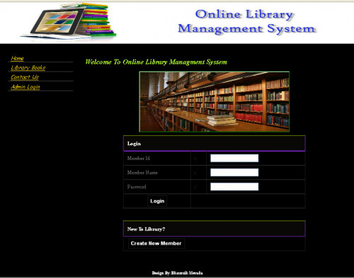web based library management system project