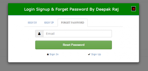 Login Sign Up And Forget Password Form In Html Bootstrap Free