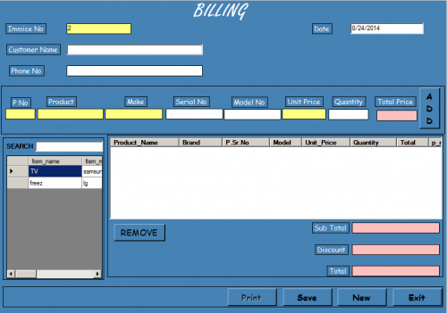 Billing System using Java | Free source code, tutorials and articles