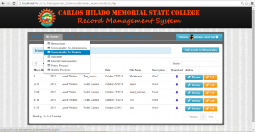 Trade record information management system
