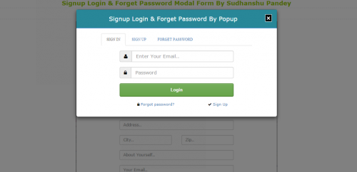 signup login and forget password modal form template | free source, Powerpoint templates