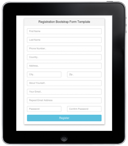 I Have Used Bootstrap And Some Css For Making This Form Look Attractive U0026  Its Also Responsive. Download It ...  Application Form Template Free Download