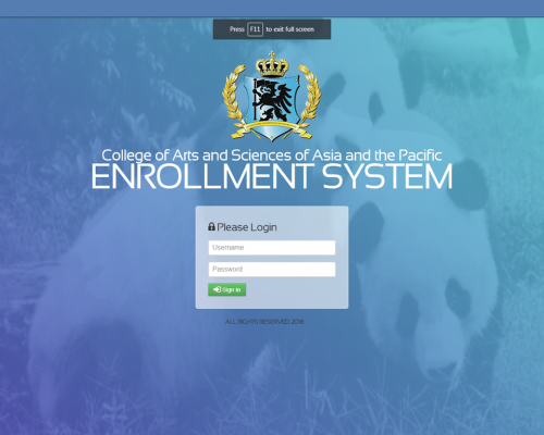 automated enrollment system thesis
