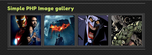 Php source code for image gallery