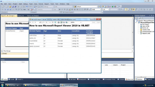 How To Use Microsoft Report Viewer In Vb Net 2010 Free