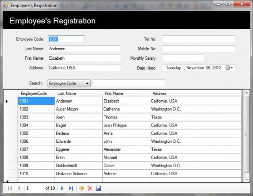 Employee'S Registration System | Free Source Code, Tutorials And