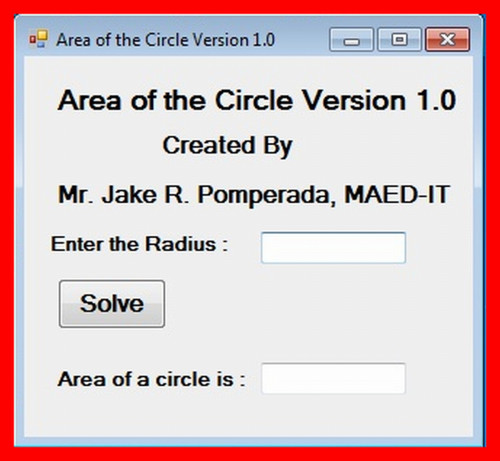 Area of the circle version 10 free source code tutorials and a simple program in c to find the area of the circle i intended my work for beginners in c programming ccuart Images