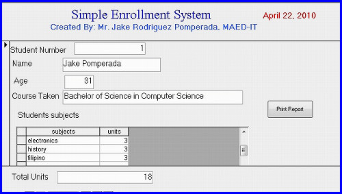 38 ENROLLMENT SYSTEM IN VISUAL BASIC