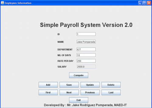 Payroll Thesis Introduction