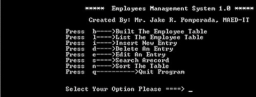 Employee S Management System 1 0 Free Source Code