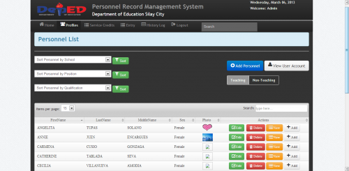 employee records management system Record Management System | Free source code, tutorials and articles