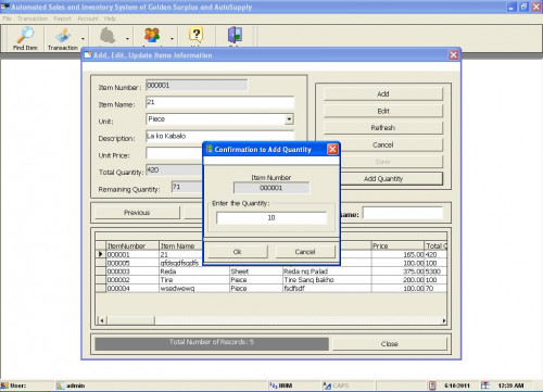 Sales and Inventory System for (Hardware, Computer, etc..) | Free ...