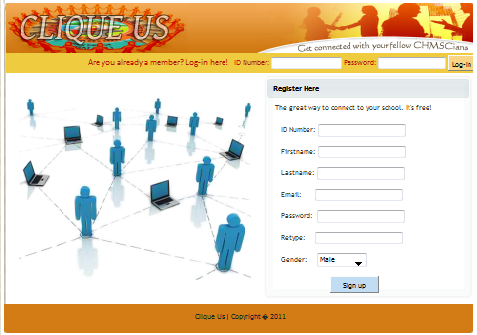 Sample of a Simple Social Networking Site | Free source code ...