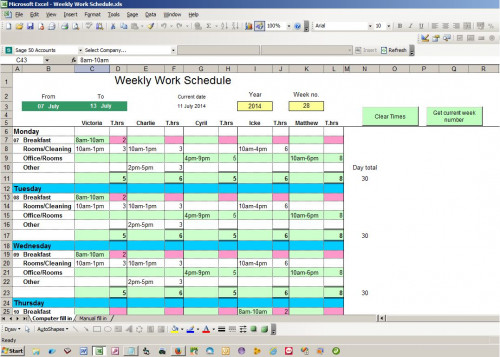 Monthly Calendar Visual Basic : Using access or excel to manage your data autos post