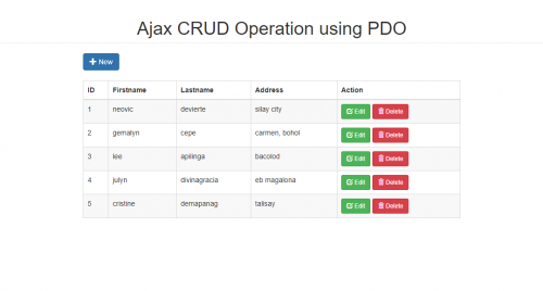 Ajax CRUD Operation using PDO with Bootstrap/Modal   Free