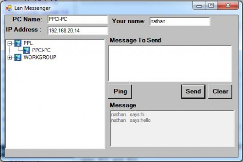 Lan Chat With Spoken Messages No Winsock Free Source