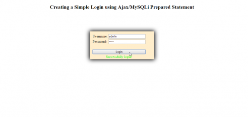 in this tutorial we will create a simple login using mysqli prepared statement jquery most of the website nowadays are required to use mysqli pdo