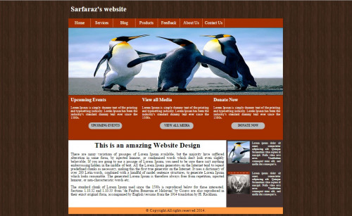 Website Template in HTML and CSS | Free source code, tutorials and ...