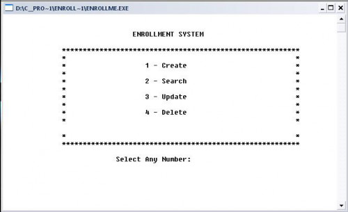 how to create enrollment system