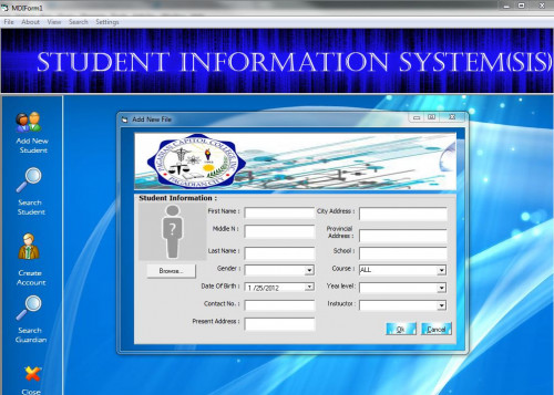 Student Information system | Free source code, tutorials ...