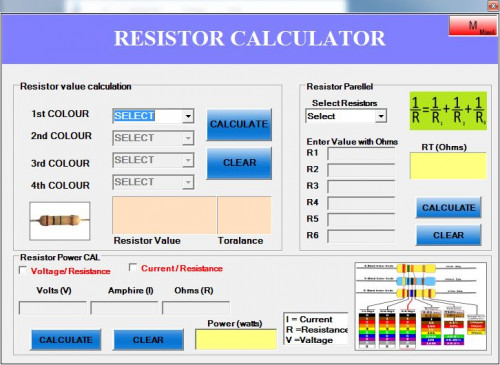 Resistor Calculator Free Source Code Tutorials And Articles