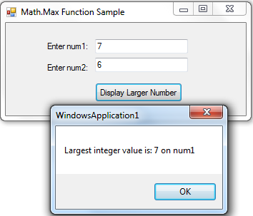 How to use Math Max Function in VB NET | Free Source Code & Tutorials