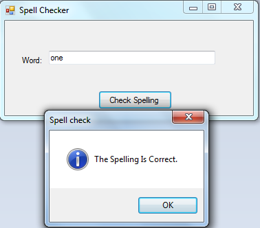 Spelling Checker | Free source code, tutorials and articles
