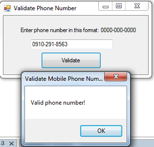 Apr 14,  · At first, we validate a phone number of 10 digits with no comma, no spaces, no punctuation and there will be no + sign in front the number. Simply the validation will remove all non-digits and permit only phone numbers with 10 digits.