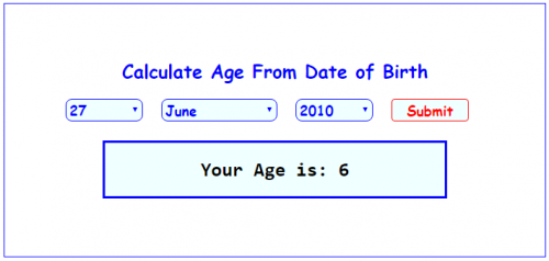 Calculate age from date of birth in Sydney