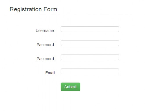 Registration Form Using Bootstrap | Free source code