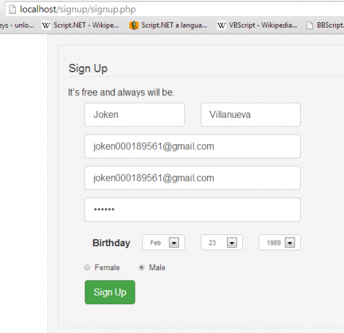 Saving Submitted Data from Sign up page using PHP/MySQL | Free source ...