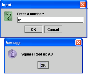 Compute Square Root of a Number in Java GUI | Free Source