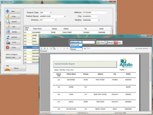 how to create report in vb net 2010