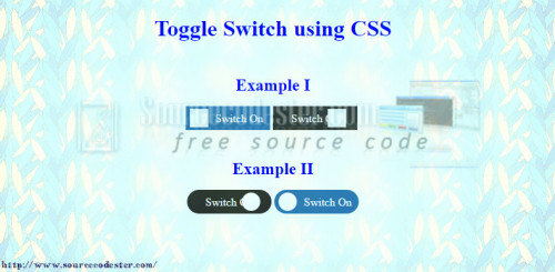 how to change css styles with toggle switch