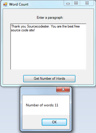 Count Number of Words using C# | Free source code, tutorials and ...