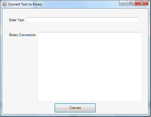 Text to Binary Conversion using C# | Free source code ...