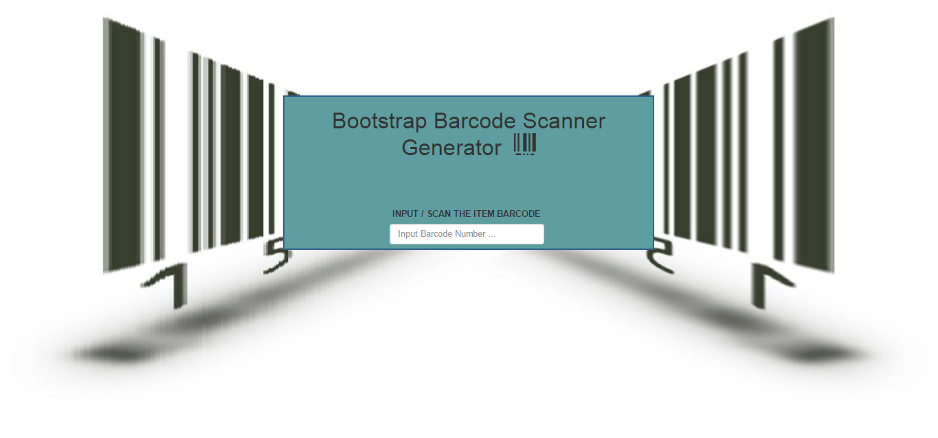 Bootstrap Barcode Scanner Generator | Free Source Code