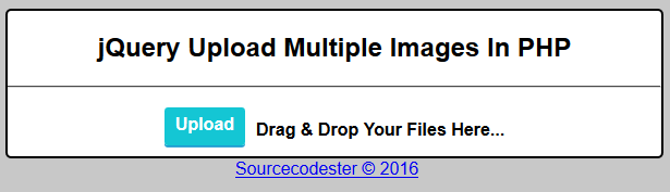 Upload.php - This file is for the process of uploading the images or ...: www.sourcecodester.com/tutorials/php/10753/jquery-upload-multiple...