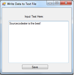 Windows Forms: How to read and write to text file in C#