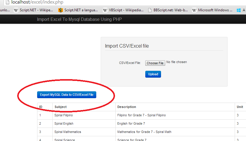 How to Export MySQL Data in CSV/Excel File using PHP/MySQL